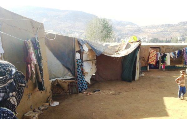 Campo di sfollati di Zahle, Libano.