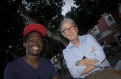 Lamin, 15 anni, con il suo tutore, Pippo.
