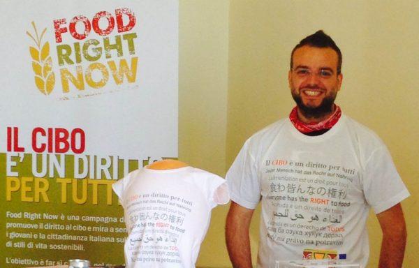 Un banchetto a favore di Food Right Now, campagna di sensibilizzazione sulla sicurezza alimentare e il diritto al cibo.