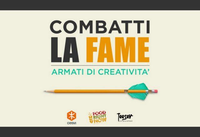 Partecipa la contest creativo organizzato da Cesvi e Teeser per combattere la fame nel mondo!