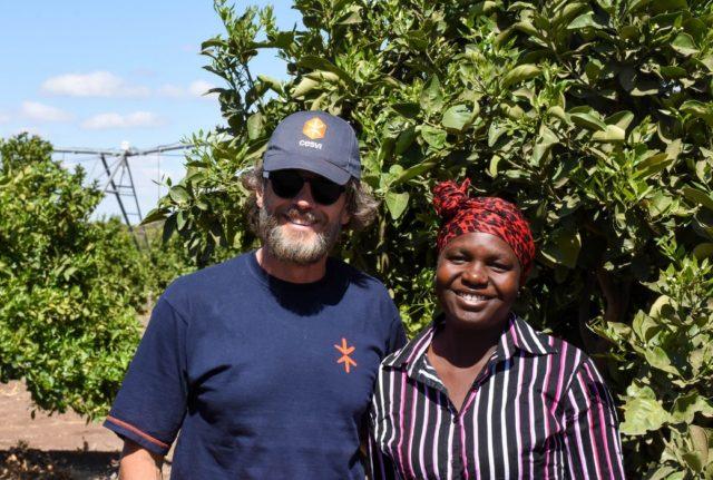 L'attore Alessio Boni in missione in Zimbabwe con Cesvi.