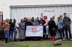 Gruppo di donne ospiti presso la Casa del Sorriso di Cesvi a Cape Town. Sudafrica.