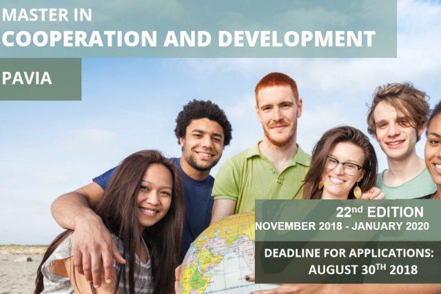 Master in cooperazione e sviluppo Università di Pavia