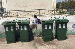 Raccolta differenziata nelle scuole del campo profughi di Nur Shams, in Cisgiordania.