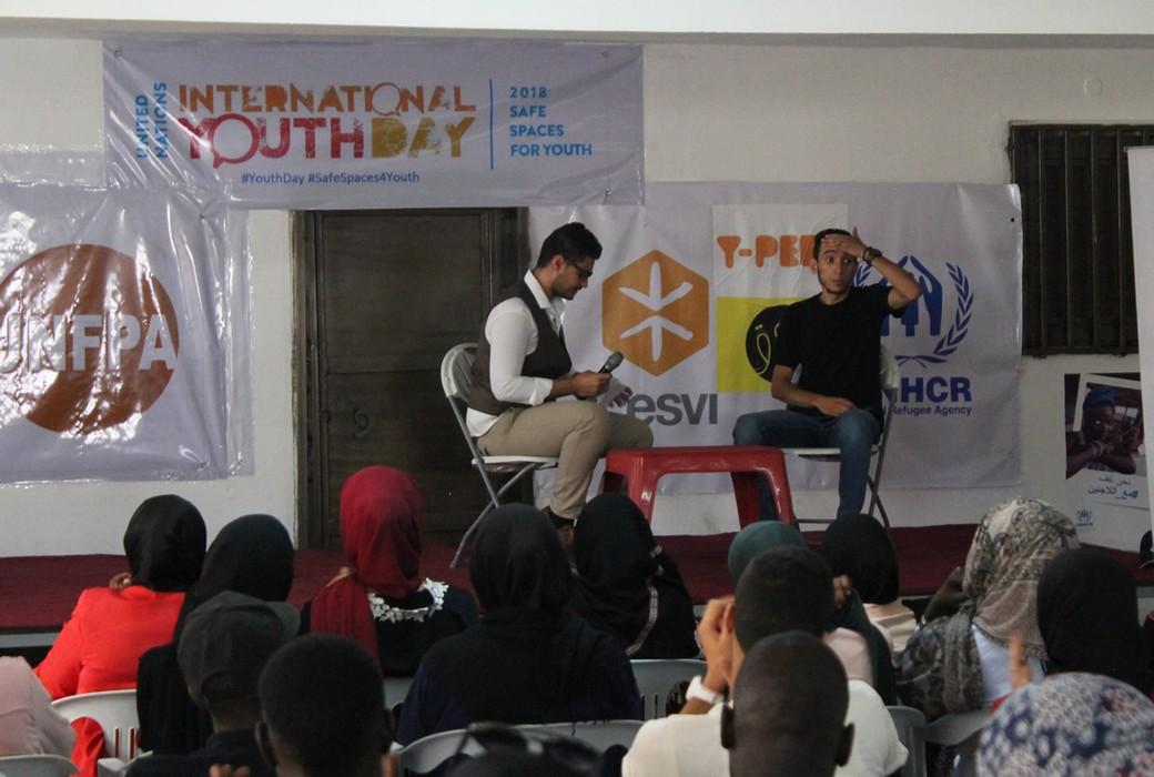 Tripoli, Libia: l'evento organizzato da Cesvi nel Centro Sociale per rifugiati in occasione della Giornata Internazionale della Gioventù.