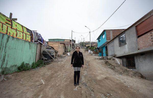 Marisol nel Distretto di Pachacutec, a circa 20 km da Lima.