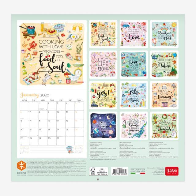 Calendario 2020 Donne.Cesvi E Legami Il Calendario Solidale A Sostegno Delle Case