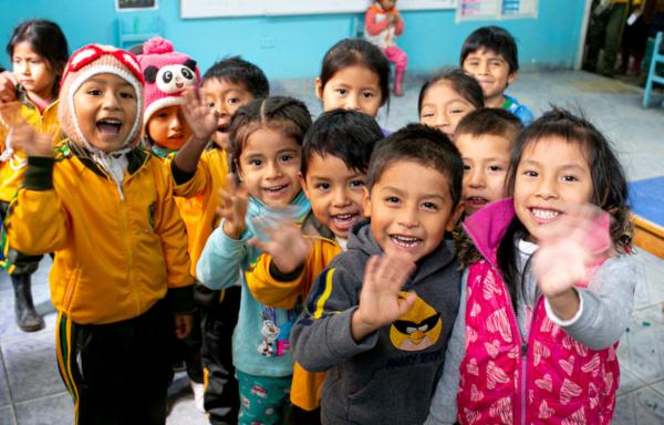 Perù, bambini beneficiari nella scuola di San Josè Obrero